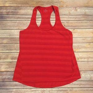 Athleta Chi Tank in Heathered Saffron Red, Size L